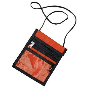 K4N-10 Кошелек на шею с двумя отделениями и прозрачным карманом